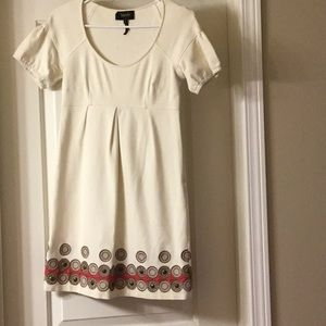 Cream Dress with Beaded Detail